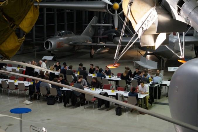 Dinner at Oberschleissheim Airfield