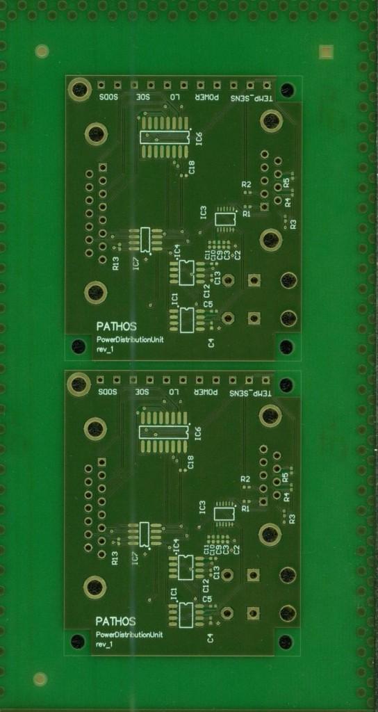 printed circuit board PDU lower side